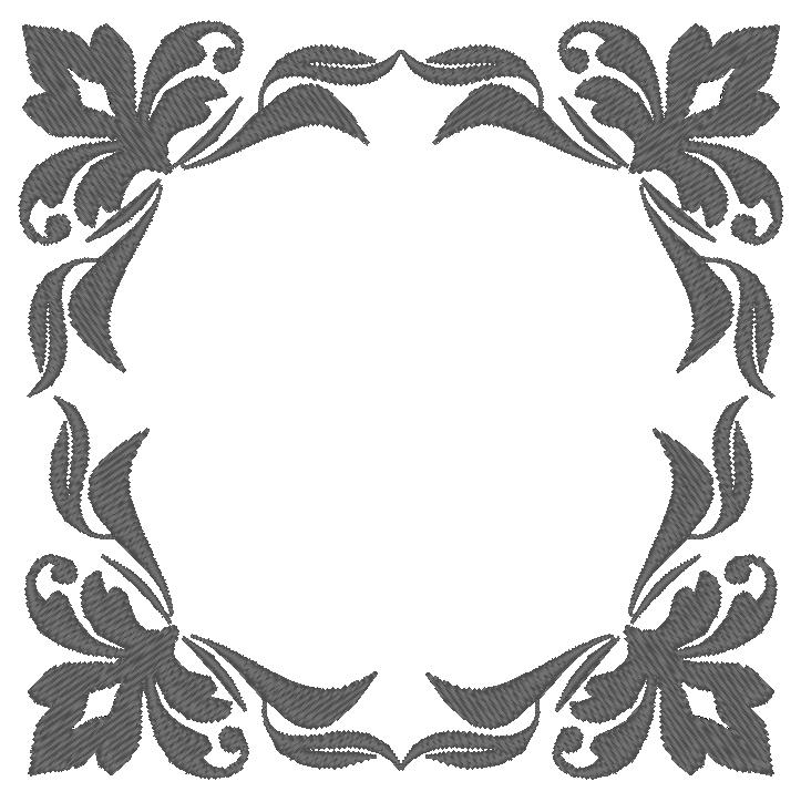 cadre gris floral patchwork passion. Black Bedroom Furniture Sets. Home Design Ideas